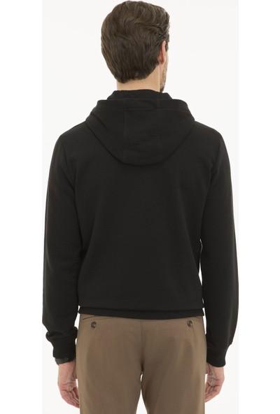 Pierre Cardin Erkek Siyah Regular Fit Sweatshirt 50231607-VR046