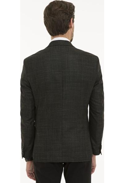 Pierre Cardin Erkek Siyah Slim Fit Ceket 50225993-VR046