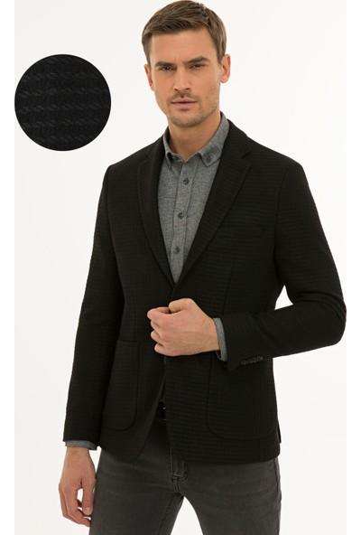 Pierre Cardin Erkek Siyah Slim Fit Ceket 50229106-VR046