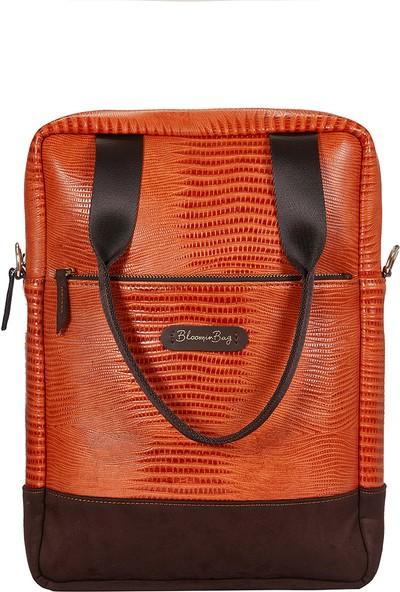 BloominBag Dikey 13INCH Macbook Laptop Omuz Çantası Orange