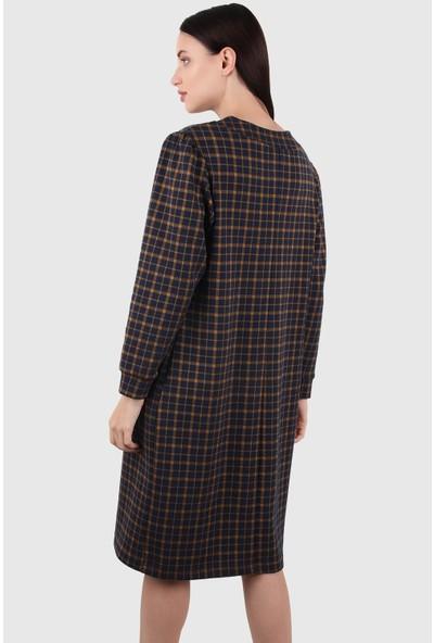 Alexander Gardi Midi Boy Broşlu Elbise (B20-155406)