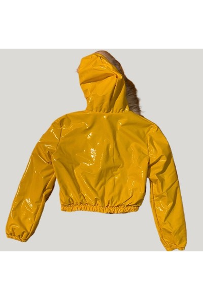 Nobasicbasic Sarı Crop Mont
