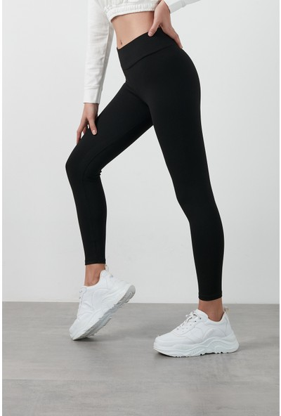 Lela Kışlık Yüksek Bel Toparlayıcı Slim Fit Spor Tayt KADIN TAYT 6251616