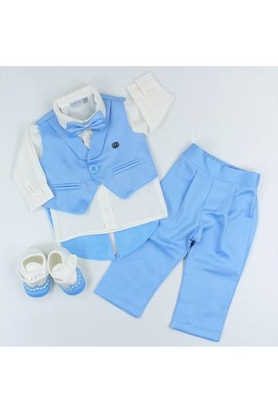 Pugi Baby Erkek Mevlüt Set Mavi 0 - 3 Ay