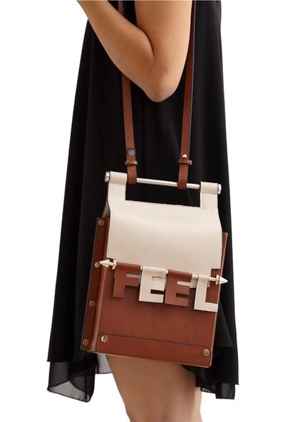 Icon-X Icona Taba Kapaklı Metal Sap Detaylı Kadın Omuz ve El Çantası-Askılı Çanta