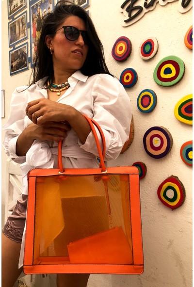 Icon-X Jenny Turuncu Renkli El ve Omuz Çantası