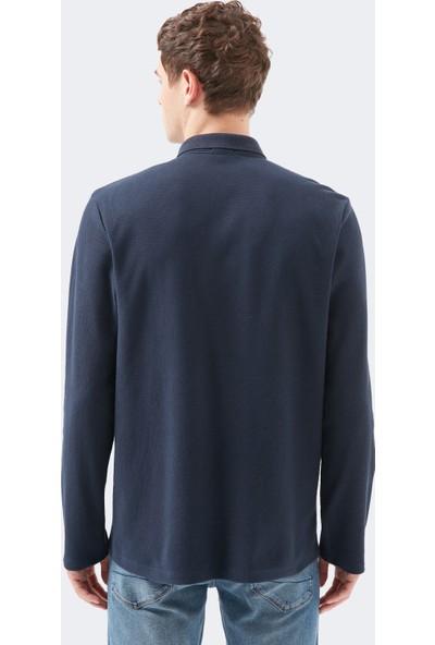 Mavi Uzun Kollu Lacivert Polo Tişört