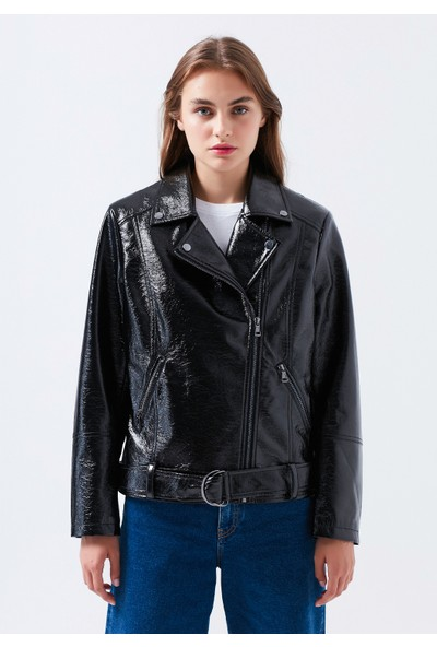 Mavi Kadın Siyah Biker Ceket 110729-900