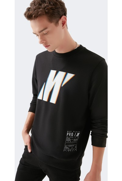 Mavi Erkek Logo Baskılı Black Pro Siyah Sweatshirt 066661-900