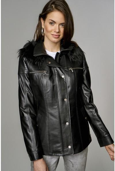 Derimod Veronica Kadın Deri Ceket