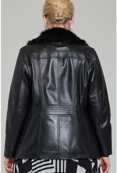 Derimod Mira (Plus) Kadın Deri Ceket