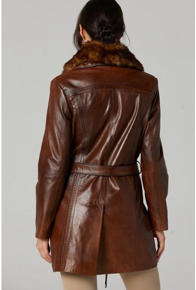 Derimod New Alexandra Kadın Deri Ceket