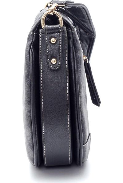 Derimod Kadın Nubuk Askı Detaylı Çapraz Çanta