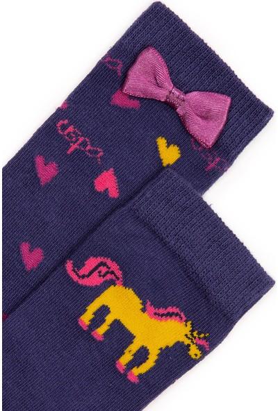 U.S. Polo Assn. Kız Çocuk Lacivert Çorap 50228596-VR033
