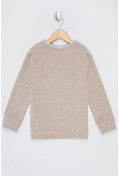 U.S. Polo Assn. Kız Çocuk Beyaz Sweatshirt 50226462-VR156