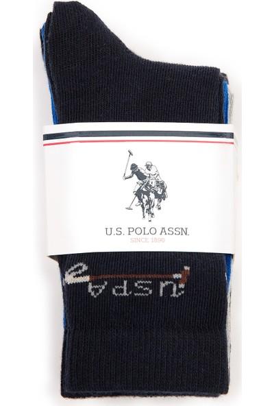 U.S. Polo Assn. Erkek Çocuk Lacivert Çorap 50228621-VR033