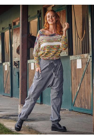 Los Banditos Kruvaze Kışlık Gri Şalvar Pantolon