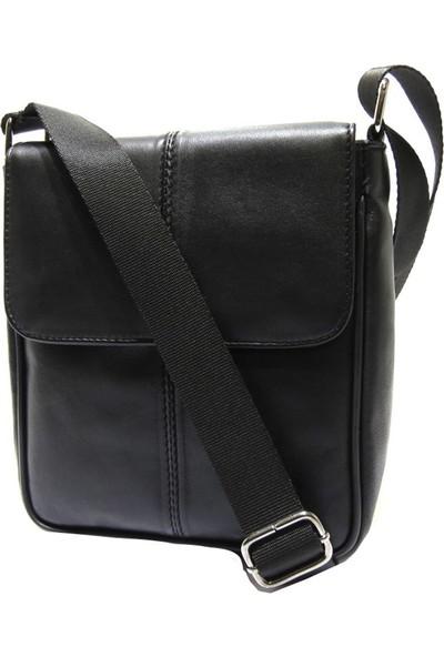 Brs Bags Erkek Deri Omuz Ve El Çantası Siyah