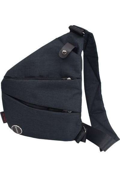 Gnza Siyah Erkek Heybe Çapraz Göğüs & Omuz Çantası