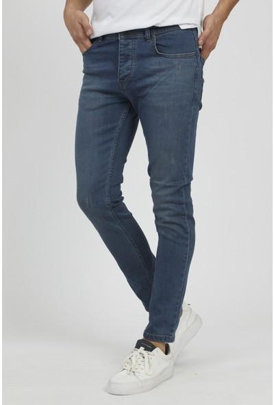 Serseri Jeans Slim Fit Erkek Mavi Renk Klasik Pantolon
