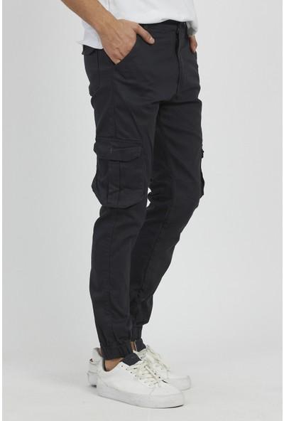 Serseri Jeans Füme Renk Likralı Slim Fit Körüklü Cep Kargo Pantolon