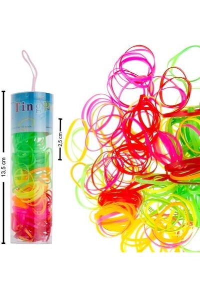 Bijuteri Net Lastikli Çocuk Tüp Toka Ebruli 2,5 cm (Tüp Uzunluğu 13,5 Cm)