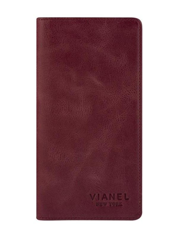 Vianel New York Glory Crazy Deri Unisex Kartlık Cüzdan Bordo