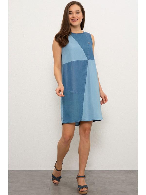 U.S. Polo Assn. Kadın Mavı Denım Elbise 50219053-DN0022