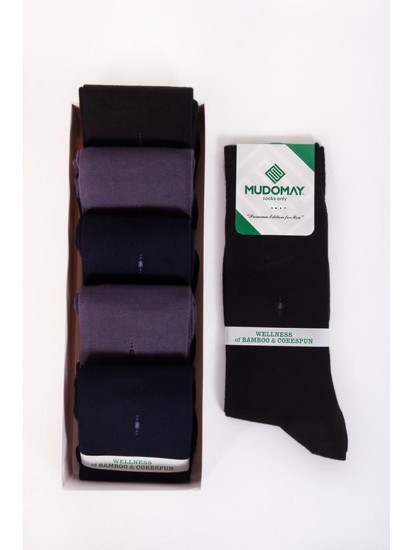 Mudomay 6'lı Bambu Corespun Mevsimlik Erkek Çorap