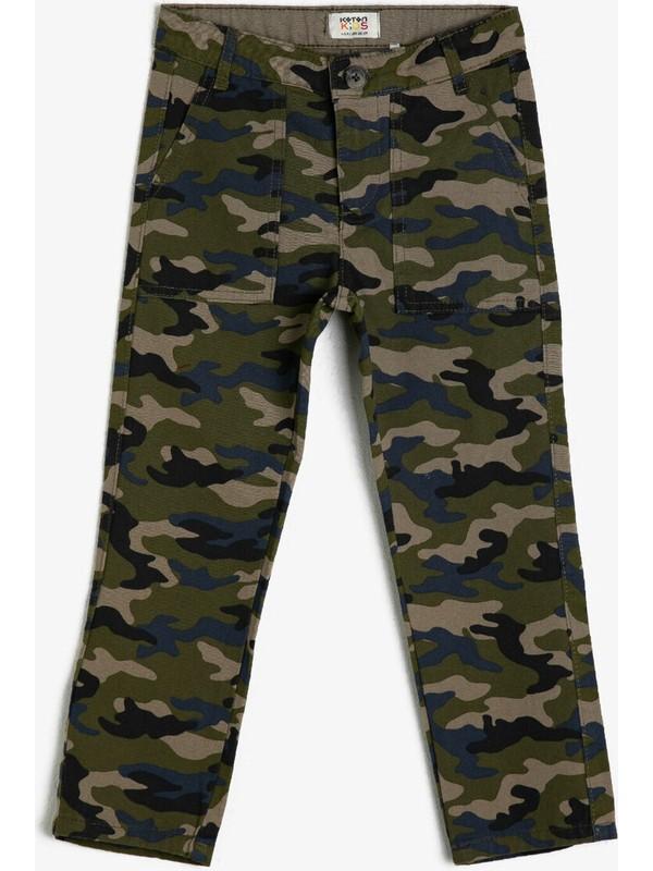 Koton Kids Erkek Çocuk Kamuflaj Desenli Pantolon
