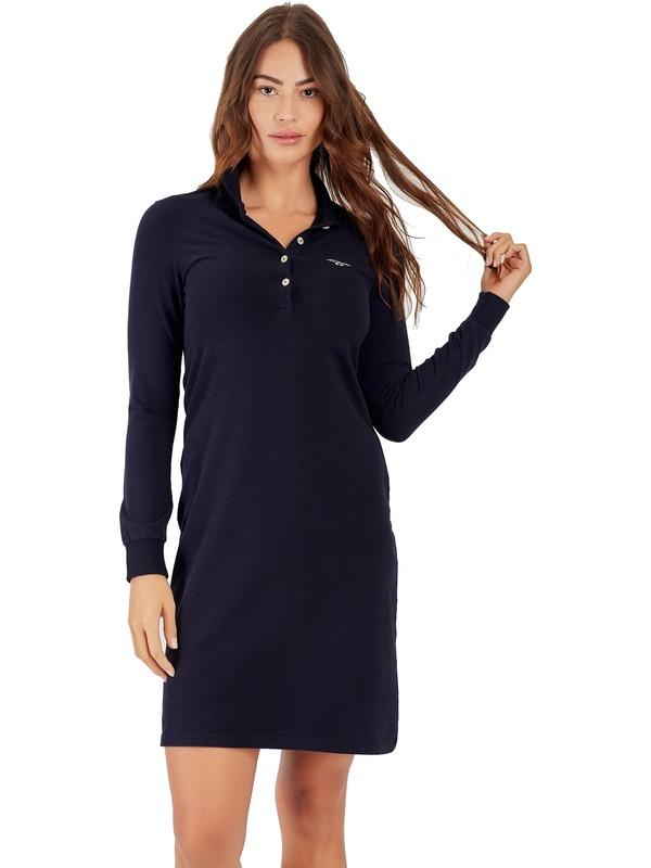 Galvanni Kadın Lacivert Elbise