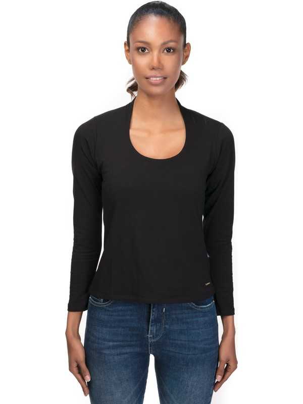 Galvanni Kadın Siyah T-Shirt
