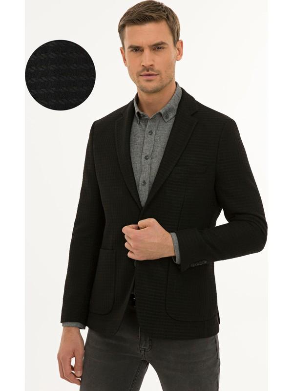Pierre Cardin Siyah Slim Fit Ceket 50229106-VR046