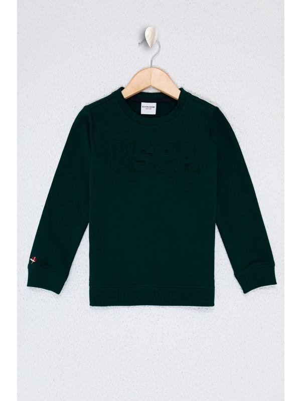 U.S. Polo Assn. Erkek Çocuk Yeşil Sweatshirt Basic 50225726-VR079