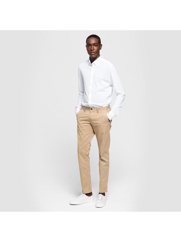 Gant Erkek Twill Chino Bej Slim Pantolon 1500156.248