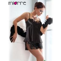 Miorre Güpürlü Saten Şortlu Takım