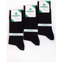 Mudomay 6'lı Bambu Corespun Mevsimlik Siyah Erkek Çorap