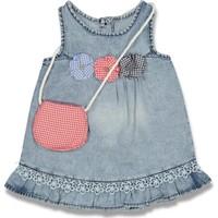 Oryeda Kız Çocuk Bebek Çantalı Kot Elbise