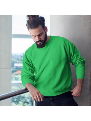 Fandomya Antik Yunan Hades Yeşil Sweatshirt