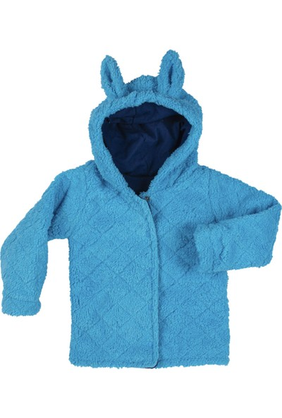 Baby West Tavşan Kapişonlu Peluş Mont