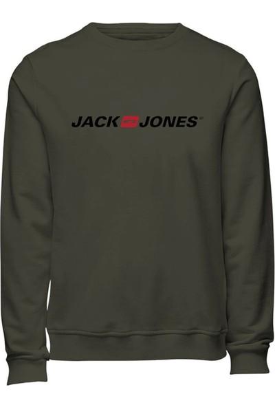 Jack -- Jones Jjecorp Old Logo Sweat Cr Antrasit Erkek Sweatshirt