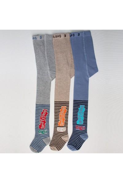 Ilbaş 3'lü Sport Pamuklu Erkek Çocuk Külotlu Çorap
