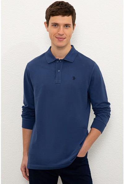 U.S. Polo Assn. Erkek Mavi Sweatshirt Basic 50225335-VR028