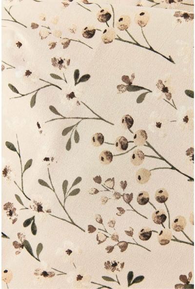 Modakaşmir Flora Serisi Meadow Flowers Desenli Şal Mor