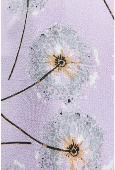 Modakaşmir Flora Serisi Dandelion Desenli Şal Gri