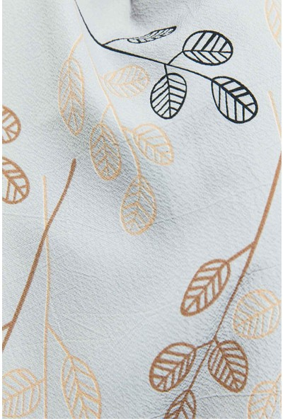 Modakaşmir Flora Serisi Twigs Leaves Desenli Şal Mor