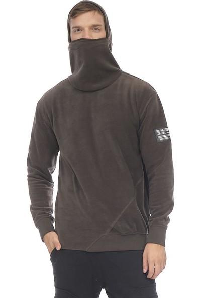 Cekmon Polar Maskeli Sweatshirt Khakı-M
