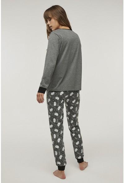 Penti Antrasit Boogie Pijama Takımı