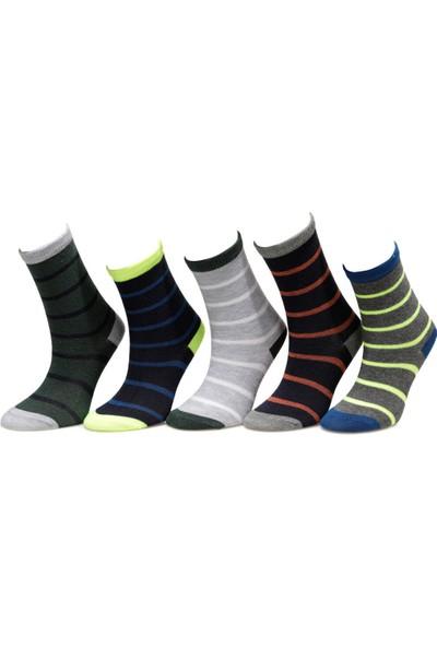 I Cool Cember 5 Lı Skt-B Çok Renkli Erkek Çocuk Soket Çorap