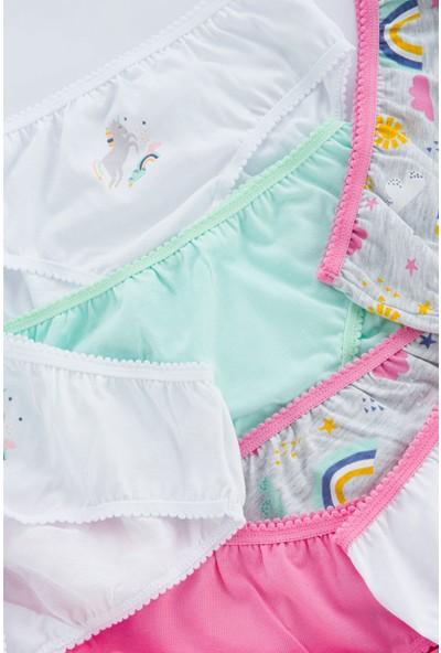 Penti Çok Renkli Kız Çocuk Rainbow 7li Slip Külot